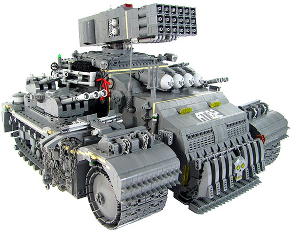 lego tonka assault truck build toys karf oohlu fun