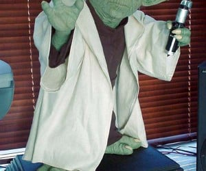 Life-Sized Jedi Master Yoda Forces His Way into Your Home