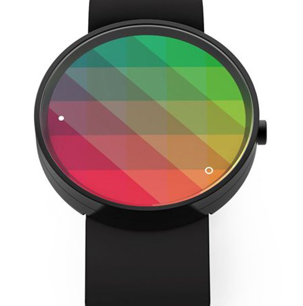 gro design kaleidoscope watch concept gradient pattern