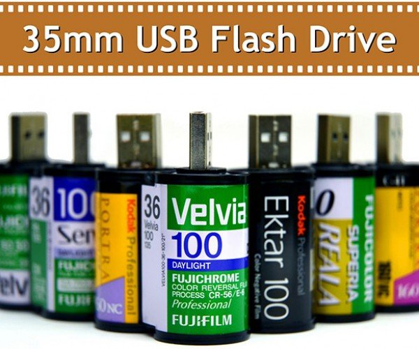 Store Digital Photos in These 35mm Flash Drives
