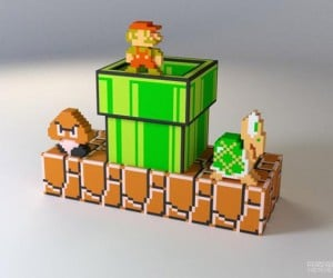 Mariorama: Super Mario Gets 3D Printed