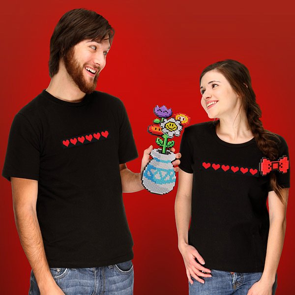 8 bit flower bouquet from thinkgeek 2