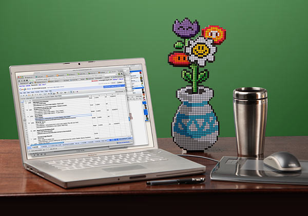 8 bit flower bouquet from thinkgeek 4