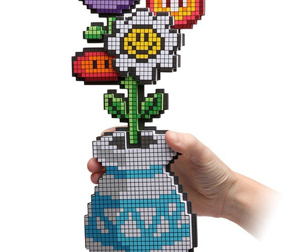8-Bit Flower Bouquet Trades Petals for Pixels