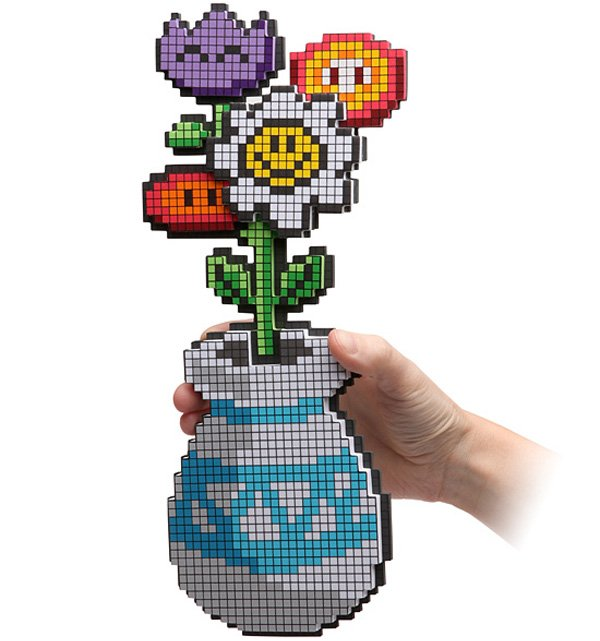 8 bit flower bouquet from thinkgeek