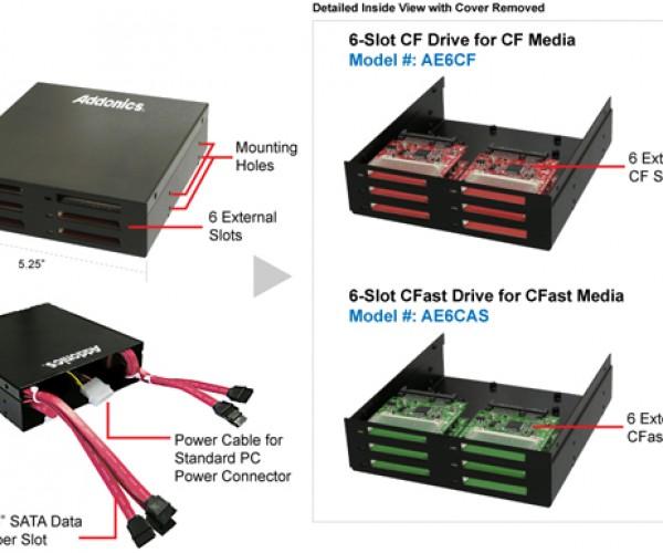 Addonics 6-Slot CF & CFast Drive Bays: Compact Platform for Compact Flash