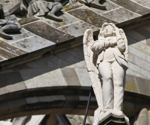 Statue of Angel with Mobile Phone: Canst Thou Heareth Me Now?