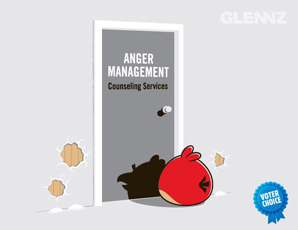 anger management angry birds tshirt