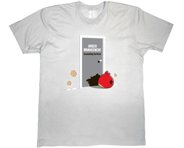 anger management angry birds tshirt 2
