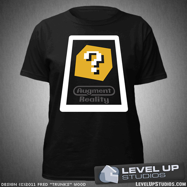 augment reality t shirt from level up studios