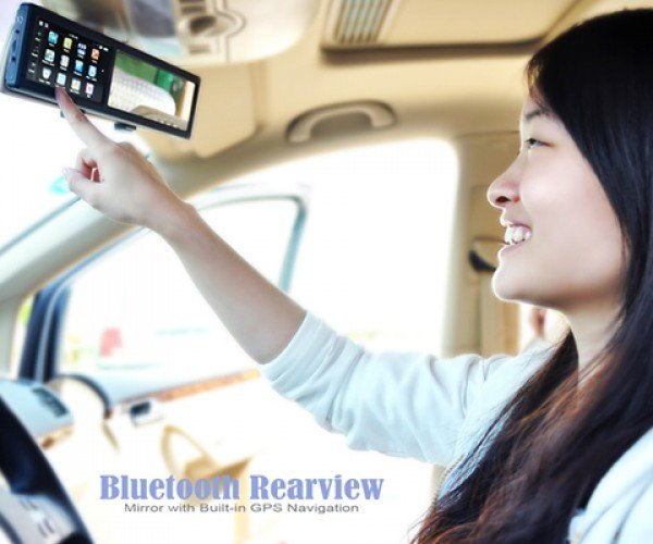 bluetooth rear view mirror with gps 2