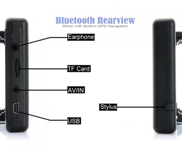bluetooth rear view mirror with gps 3