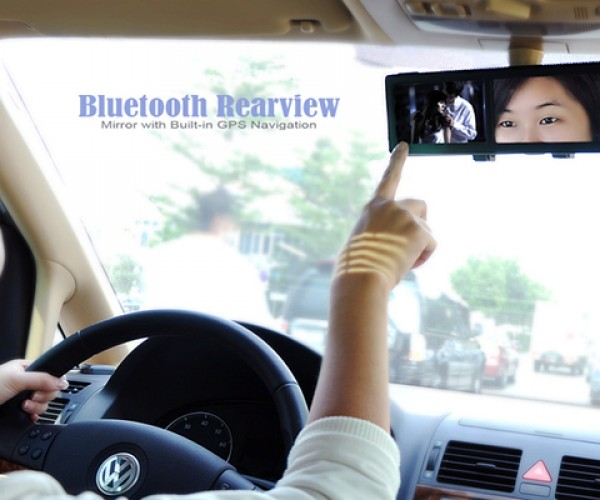 bluetooth rear view mirror with gps 4