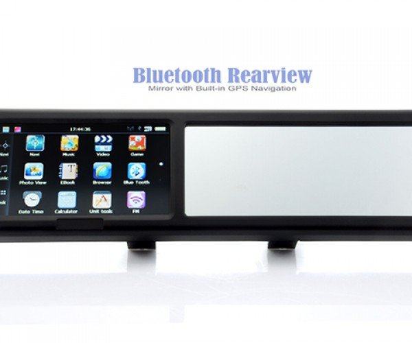 bluetooth rear view mirror with gps 5