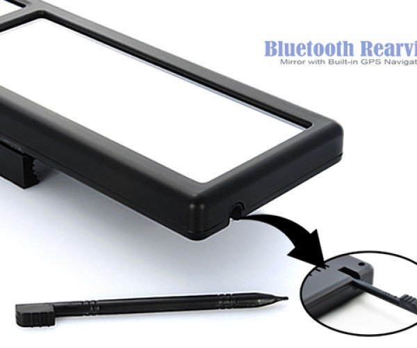 bluetooth rear view mirror with gps 6