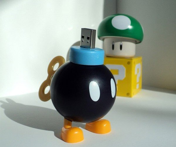 Bob-omb Flash Drive Won't Crash Your Computer
