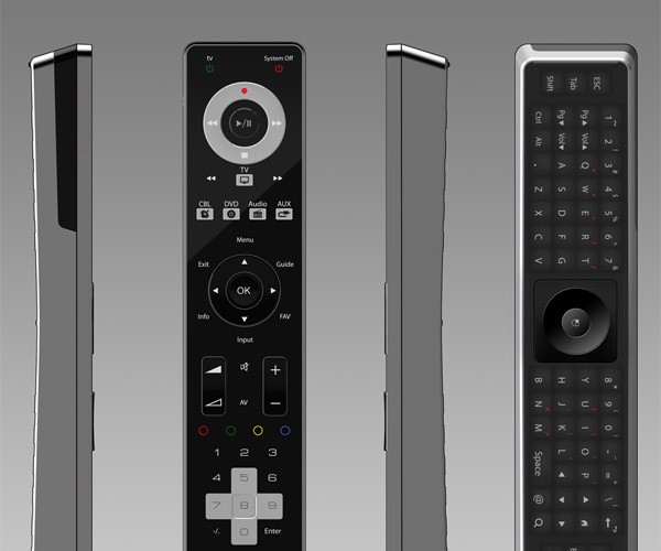 Conspin Smart Qwerty Universal Remote: Fun in Front, Business in Back
