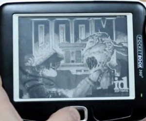 Doom 2 Running on PocketBook 360 Plus eReader