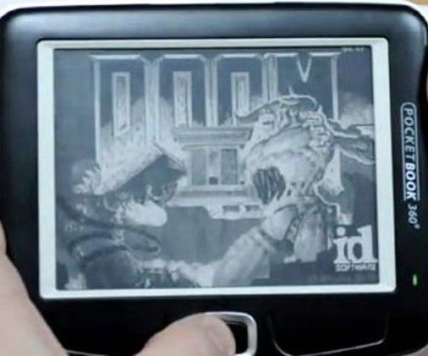 Doom 2 Running on PocketBook 360 Plus eReader