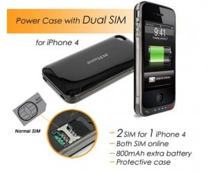Dual SIM Battery Pack for iPhone 4 Lets You Make Calls on Two Networks at Once