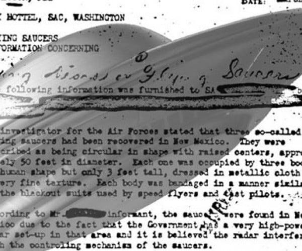 1950s Roswell UFO Crash Memo Hits FBI Vault