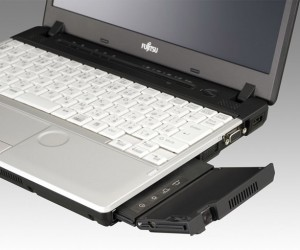 Fujitsu Lifebooks Cram Pico Projector into Optical Drive Bay