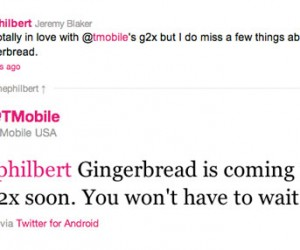 T-Mobile G2X to Get Gingerbread Update Soon