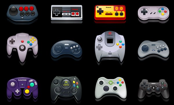 gaming controller and handheld icon pack by deleket