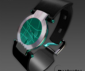 Gnomon Sundial Watch Concept: No Sun Required