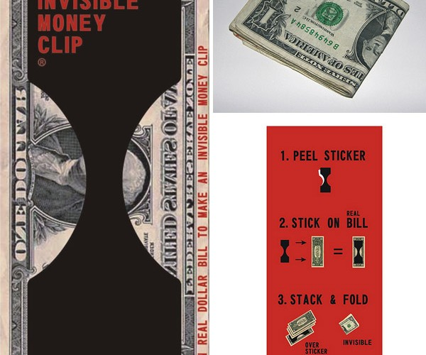 Invisible Money Clip Wraps Money With More Money