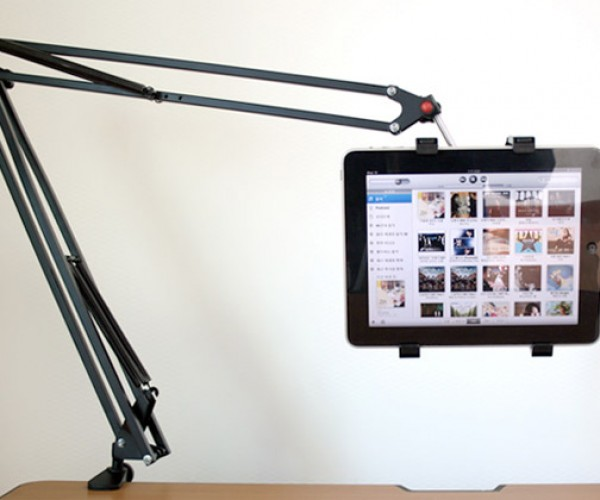 Articulated Arm Tablet Holder: If iPad and Luxo, Jr. Had a Baby