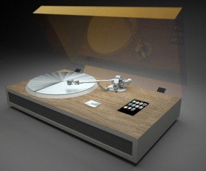 iPhone Turntable Concept Converts Vinyl to iTunes