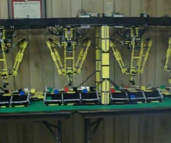 Lego Mindstorms Delta Robots Ready to Put Assembly-Line Workers Out of a Job