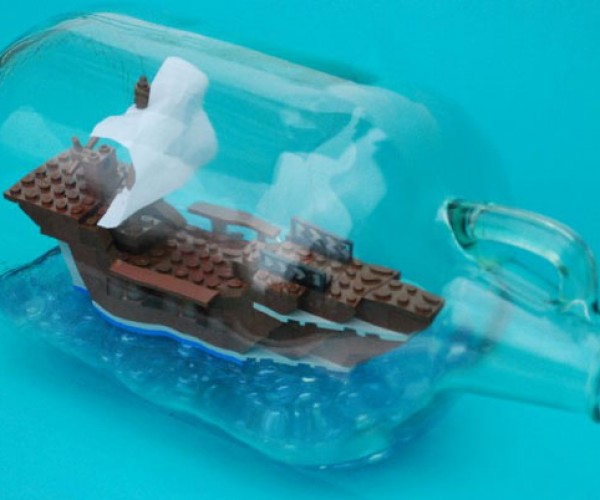 LEGO Ship-in-a-Bottle: See How It's Done