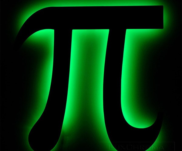 LED Pi Wall Art is 3.14159265 Times Geekier Than Other Wall Art