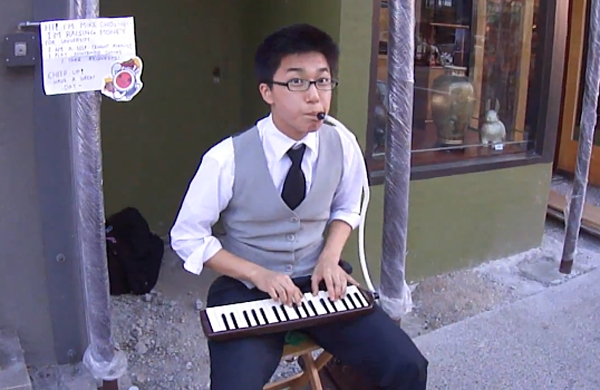 mike choi nintendo street musician