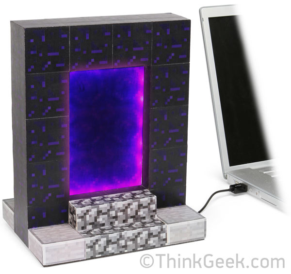minecraft usb desktop portal by thinkgeek