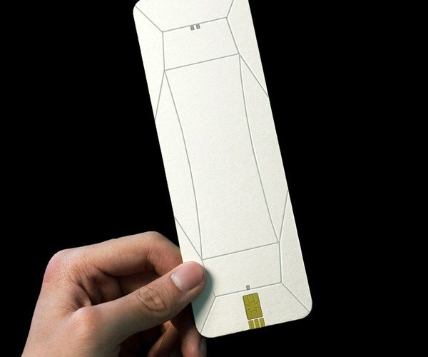 origami handset concept by chengyuan wei 2