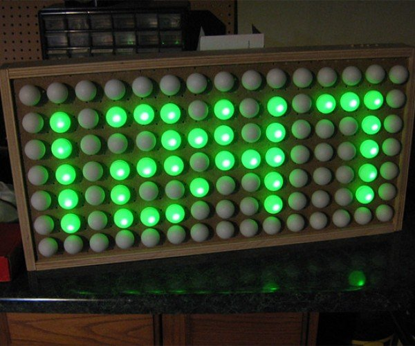Ping-Pong Ball Clock: Table Tennis Tells Time