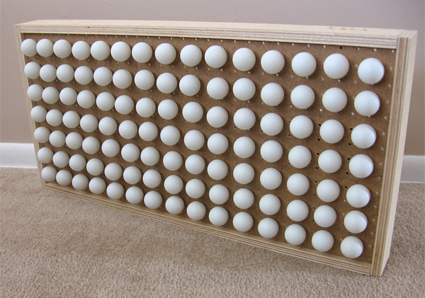 ping pong ball clock 2