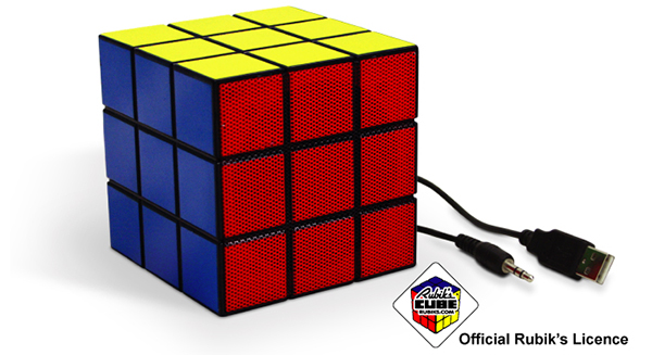 rubik's cube speaker by spinning hat