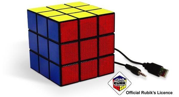 rubik's cube speaker by spinning hat