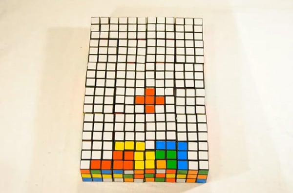 rubiks cube tetris stop motion by banananeil