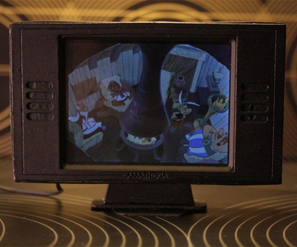 Dollhouse Gets Tiny Flat Screen TV: My, What a Small HDTV You Have
