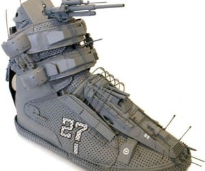 Warship Shoe: If Gundam Wore Sneakers