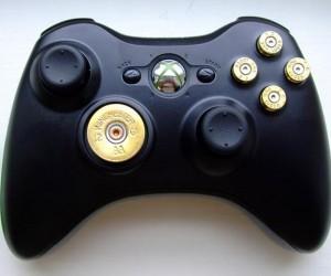 Xbox 360 Bullet Buttons: Gun Controller, Literally.
