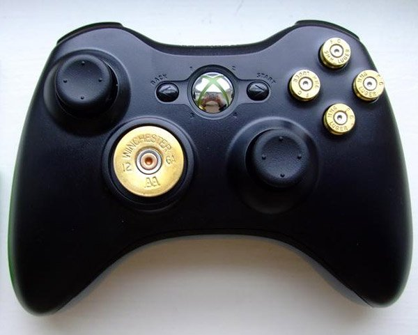 xbox 360 bullet buttons gun controller literally. Black Bedroom Furniture Sets. Home Design Ideas