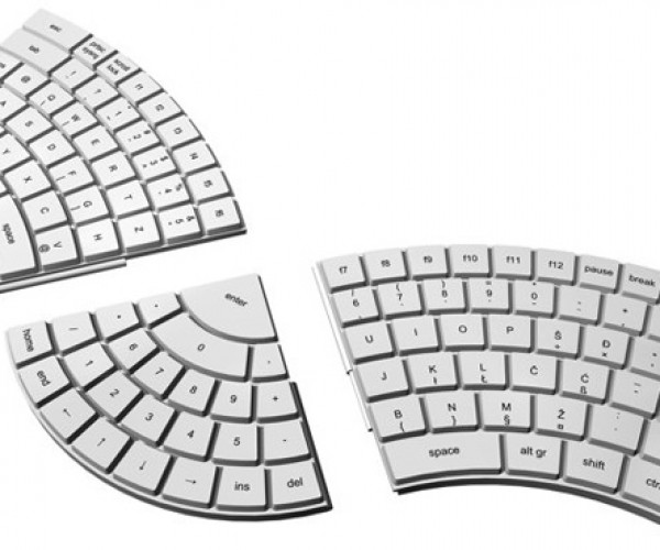 Ergonomic Modular Keyboard Falls To Pieces
