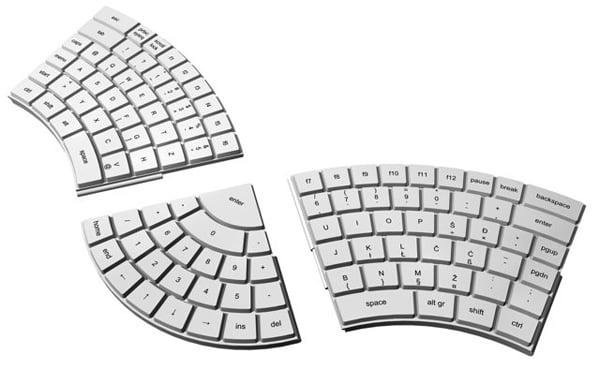 goran bobinac keyboard modular concept ergonomic
