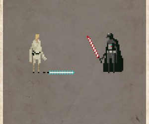Star Wars Pixel Posters Inspired By iPhone Game Inspired by Retro Games